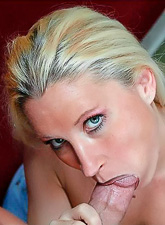 Big breasted blonde hottie takes her blue jeans off and gets her cunt pumped hard.