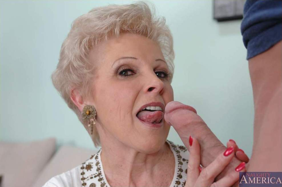 Old granny gets big cock