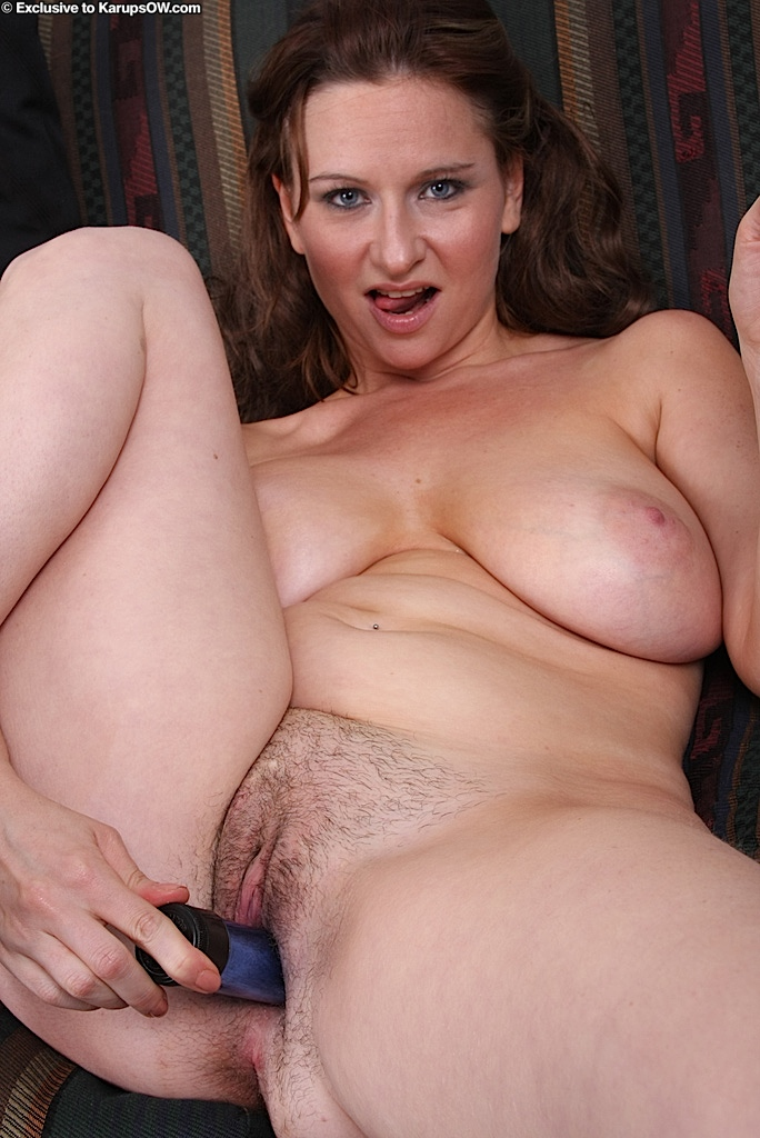 Hairy mature with dildo-4324
