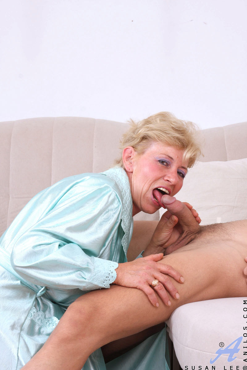 Hairy granny loves cock
