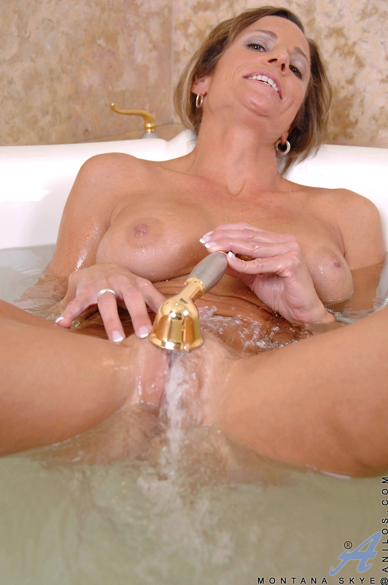 Milf shower tube