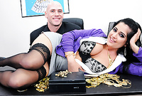 Kimber Kay takes her classy lingerie off and gets her wet meat hole banged hard and fast for the camera