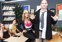 Brandi Love takes all of her clothes off and pleases her handsome lover with an amazing deep blowjob