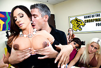 Ariella Ferrera takes her slutty dress off and gets her tight vagina drilled by big piece of meat