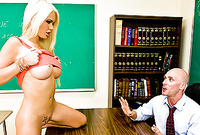 Alexis Ford takes all of her clothes for the camera and gets her hungry muff nailed by big piece of hard wood