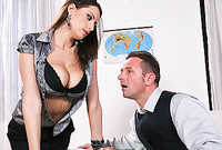 Sensual Jane takes her classy outfit in the office and gets screwed by her passionate well hung lover for the camera