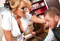 Nikki Sexx shows us her amazing big jugs as she gets her hungry wet muff drilled by large cock