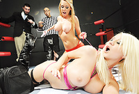 Brynn Tyler and Jazy Berlin strip together for the camera and have amazing sex in front of the camera
