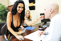 Ava Addams shows us her amazing big jugs and then pleases her hung lover with an incredible deep blowjob for the camera