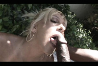 Misty Vonage goes down on her knees and pleases her hung black lover with an amazing deep blowjob