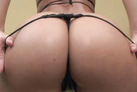 Naomy Bell takes her slutty black thongs off and shows us her amazing piece of ass
