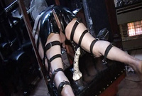 Mistress Beverly takes her kinky lingerie before the camera and then toys a dirty asshole with a big toy