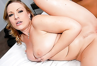 Vicky Vixen shows us her fantastic big jugs and screams while she gets her tight meat hole drilled hard and fast