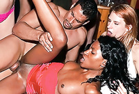 Erykuh Starz spreads her sexy ebony legs and gets her black fanny drilled at a wild hardcore party