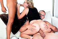 Michelle Brown and her alluring hot friend strip together and get fucked by two hard schlongs