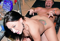 Brooke takes her little panties off and gets her tight hungry vagina drilled hard and fast