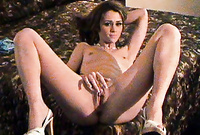 Jessica Young spreads her sexy legs for the camera and gets her tight muff drilled hard and fast