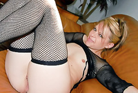 Monica takes her little black thongs off and gets her deep hungry muff banged hard and fast on the couch
