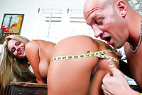 Phoenix Marie takes her little panties off and gets her tight bush banged hard and fast by big boner