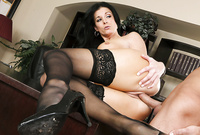 India Summer takes her sexy business suit off in the office and gets roughly fucked