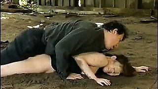 Helpless Japanese babe has a horny guy ramming her wet puss